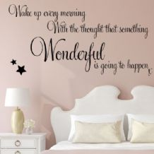 Wake Up Wonderful ~ Wall sticker / decals